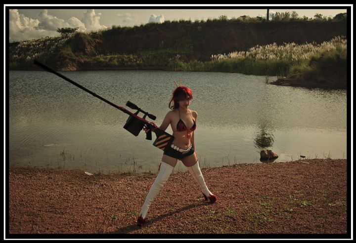 Yoko Littner cosplay time skpi print - Victoria Russo