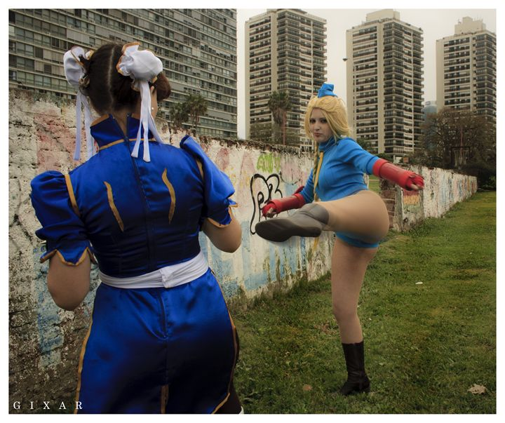 Cammy and chun-li - Victoria Russo