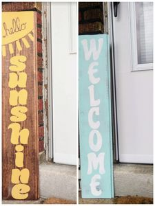 Large Painted Wood Sign