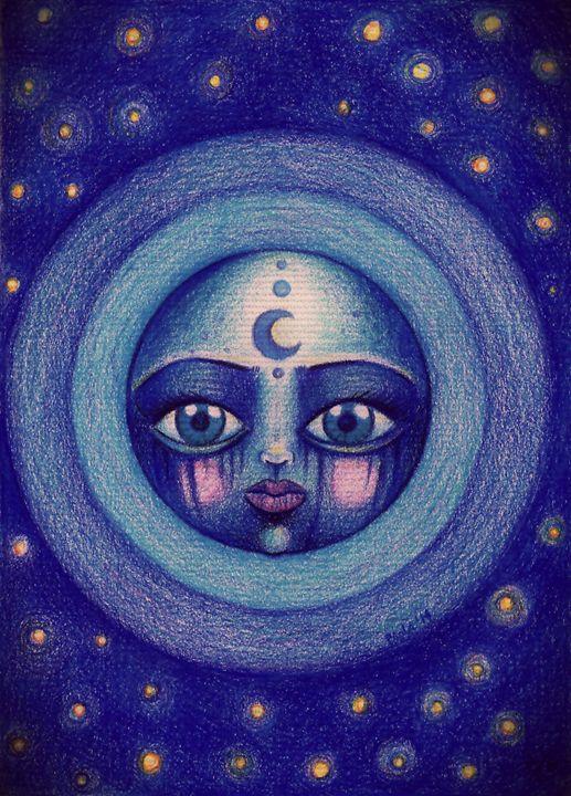 Blue Moon - PaolaBeatrixArt