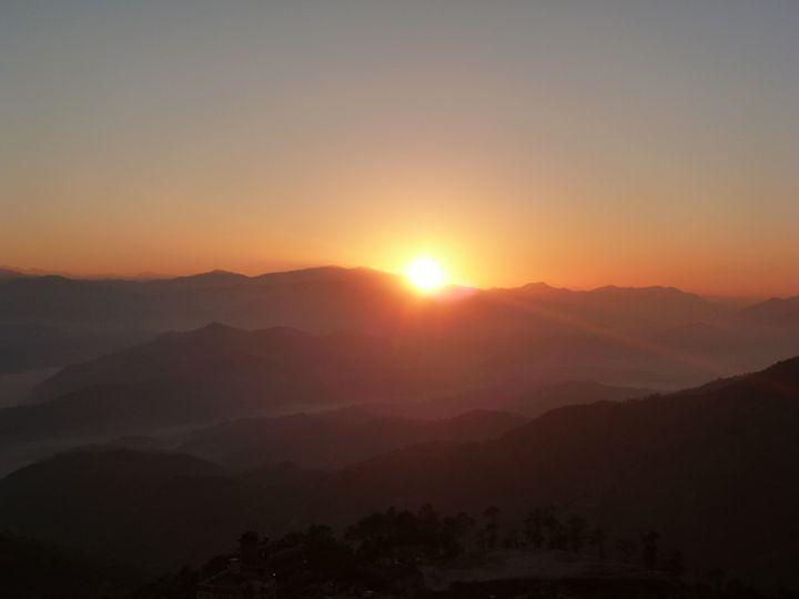 Sunrise at Nagarkot, Pohkara, Nepal - May
