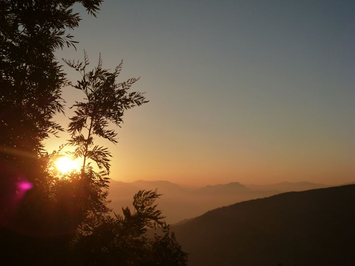 Sunrise at Nagarkot, Pohkara, Nepal - May