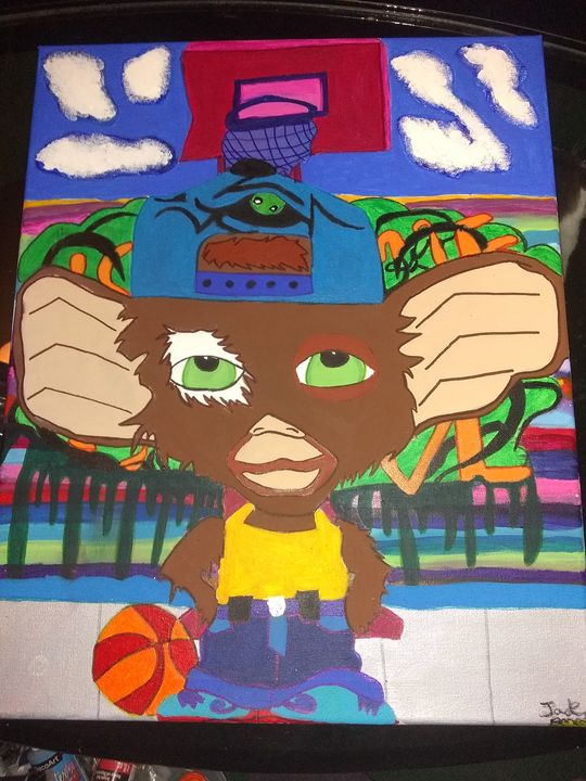 Graffiti basketball time - Paintings by a gifted artist