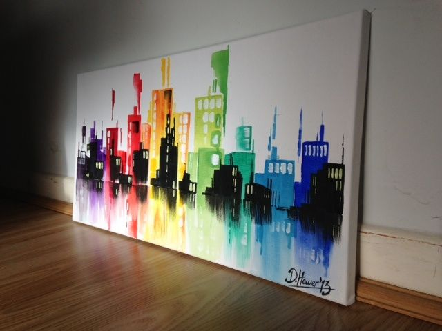 Abstract cityscape - Daniel hewers gallery