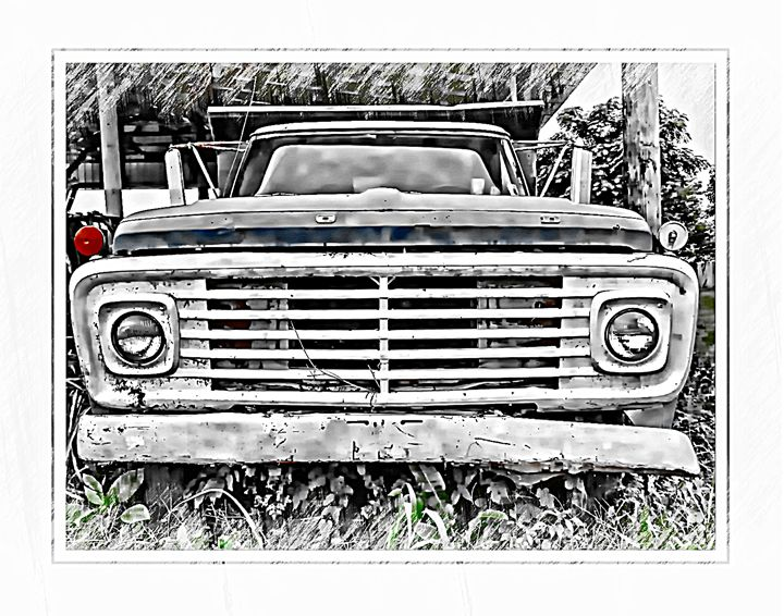 OLD FORD TRUCK - 1 - The Art Store