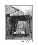OLD TRUCK IN A BARN (11X14)
