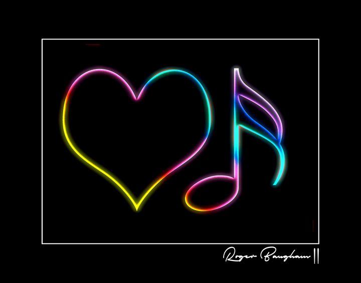 LOVE MUSIC - NEON - 1 - The Art Store