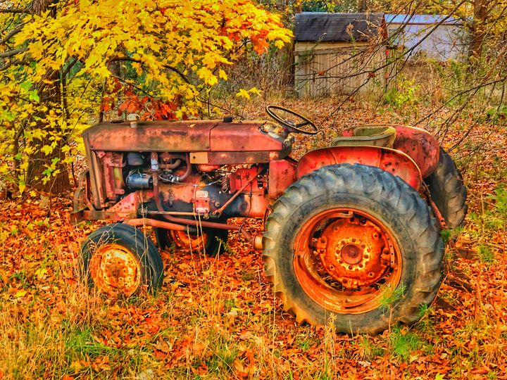 FALL TRACTOR - The Art Store