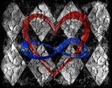 CRACKED INFINITY HEART (11X14)