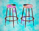 TWO STOOLS - 1 (11X14)