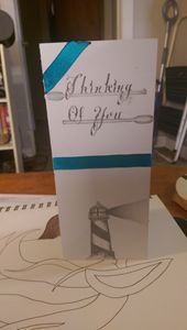 Hand drawn lighthouse cards