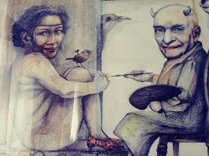 El artista y la falsa modelo.