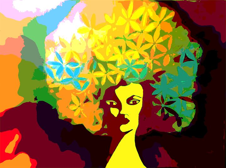 Afro Woman in Maroon - PoCArts