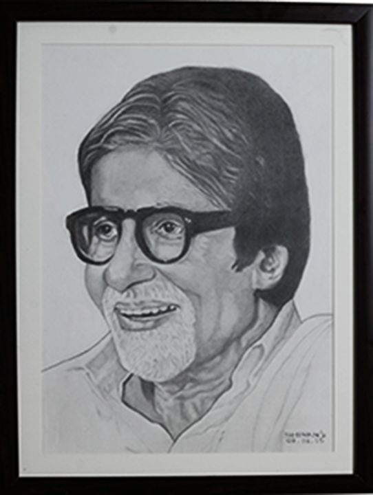 INDIAN FILM STAR AMITABH BACHCHAN - SHIVAN'S CREATIVE STUDIO