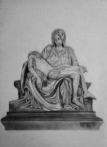 THE PIETA -SCULPTURE BY MICHELANGELO - SHIVAN'S CREATIVE STUDIO