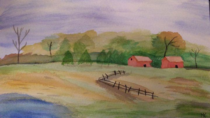 Barns In A Field - MalloryDK