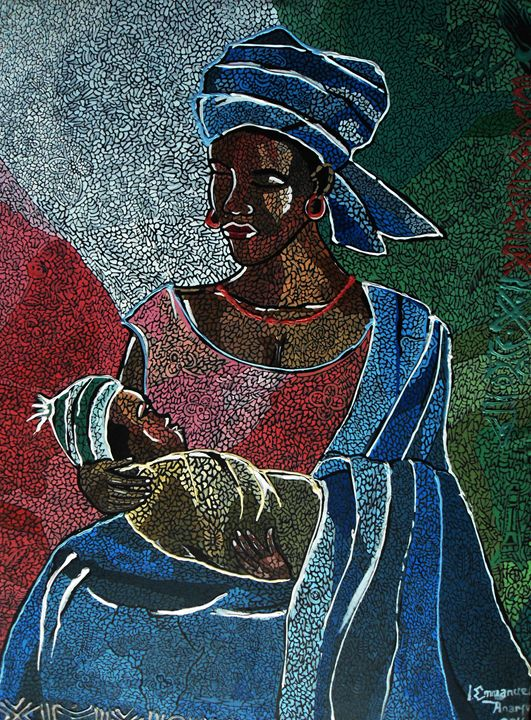 A Mothers love - Art of I emmanuel Anaiye