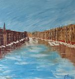 Painting of Old Port Honfleur