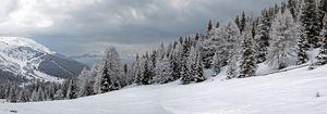 Winter panorama in Tyrol
