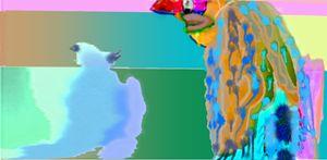 Little Blue Birdy. - Mickeys Art And Design.Biz