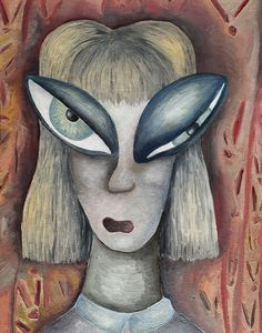 Surreal abstract woman portrait