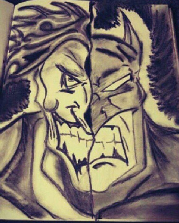 BATMAN AND THE JOKER - ARTISTIC EXPRESSION