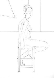 Seated life model