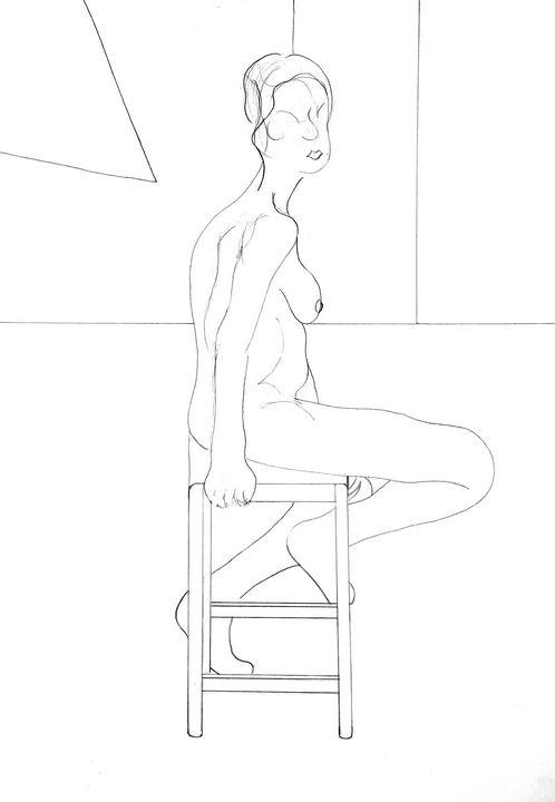 Seated life model - Neil Robinson