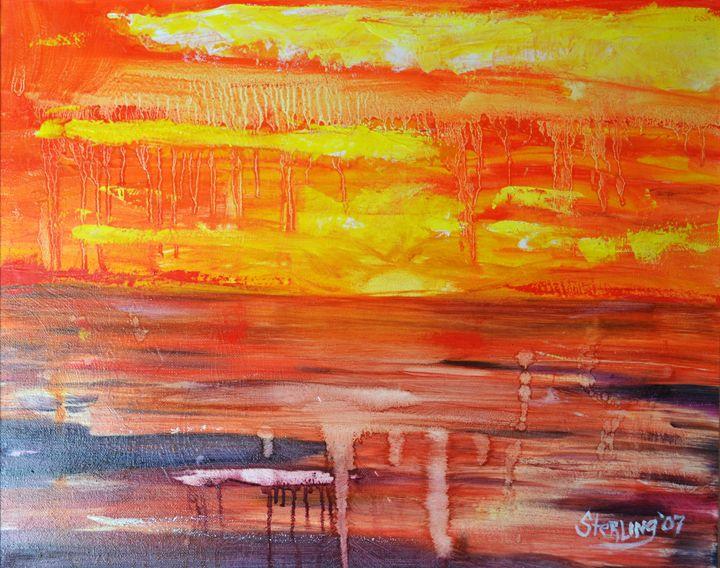 Fire In the Sky - Sterling Loves Art