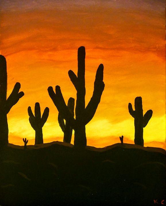 Desert sunset - K.C.