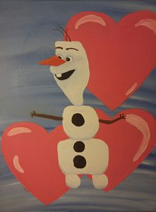 Olaf and hearts
