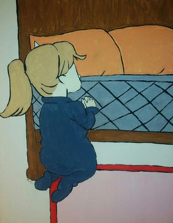 Little girl praying - K.C.