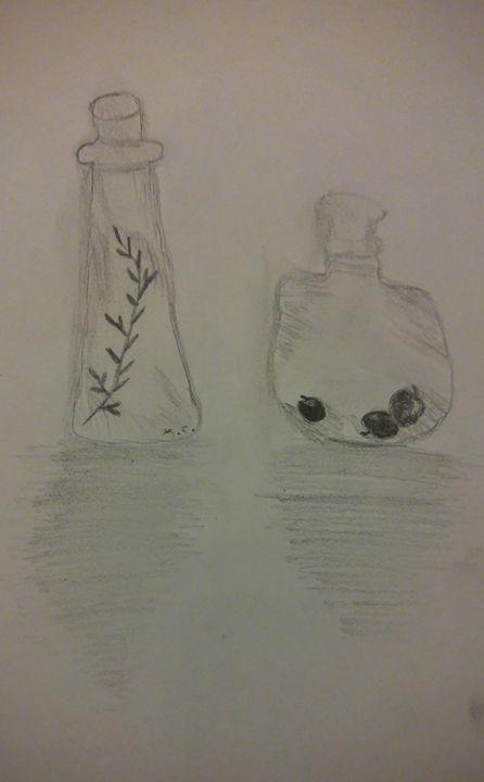 Herb bottles - K.C.