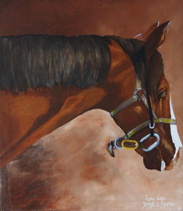 Long Day - James C Byrne Equine Art