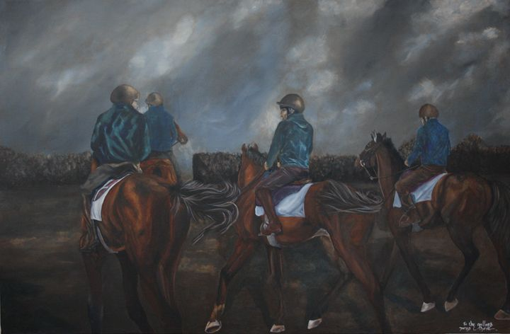 To The Gallops - James C Byrne Equine Art