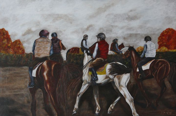 To The Gallops 2 - James C Byrne Equine Art