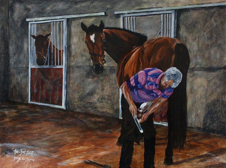 The Farrier - James C Byrne Equine Art