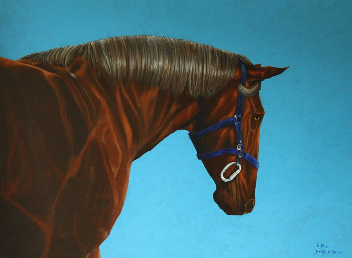 In Blue - James C Byrne Equine Art