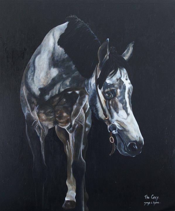 The Grey - James C Byrne Equine Art