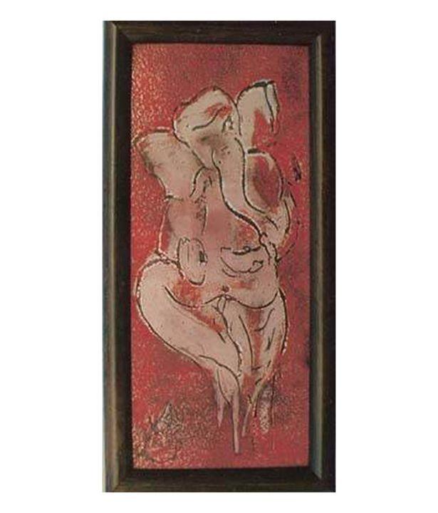 Shree Ganesha001 - Enamel...The molten glass on metal