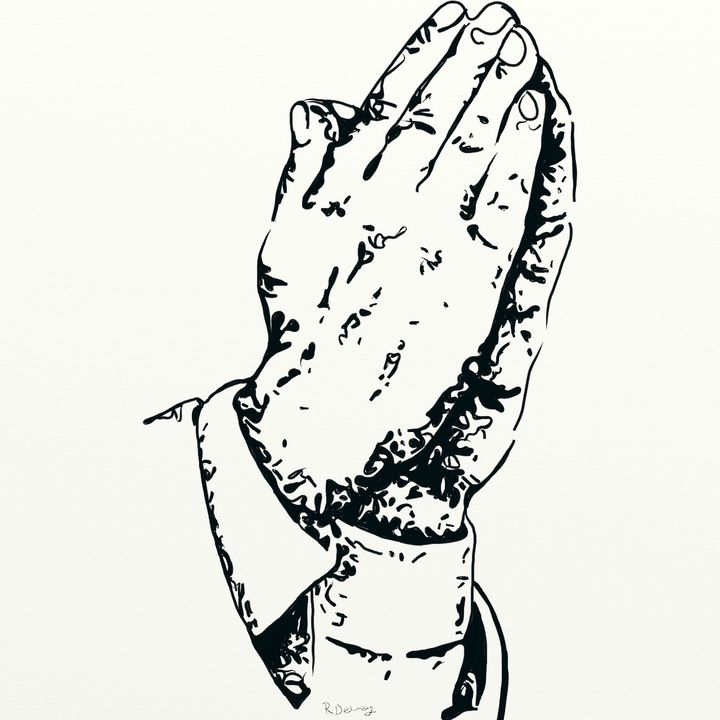 Praying hands - Yellow Cottage Art - Ronni Dewey