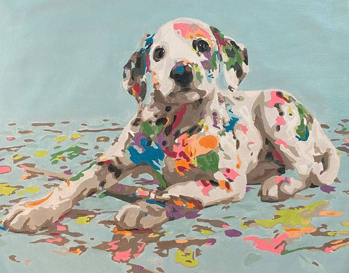 Someone got into the paint. - Yellow Cottage Art - Ronni Dewey