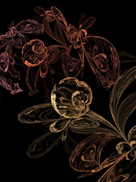 Flower garden - Yellow Cottage Art - Ronni Dewey