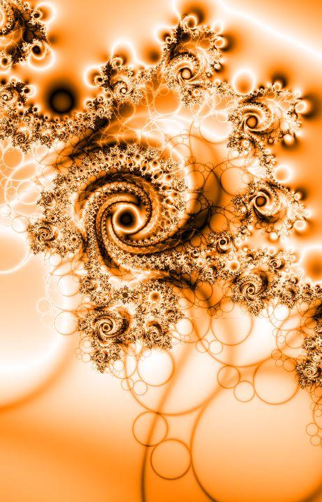 Beautiful swirl - Yellow Cottage Art - Ronni Dewey