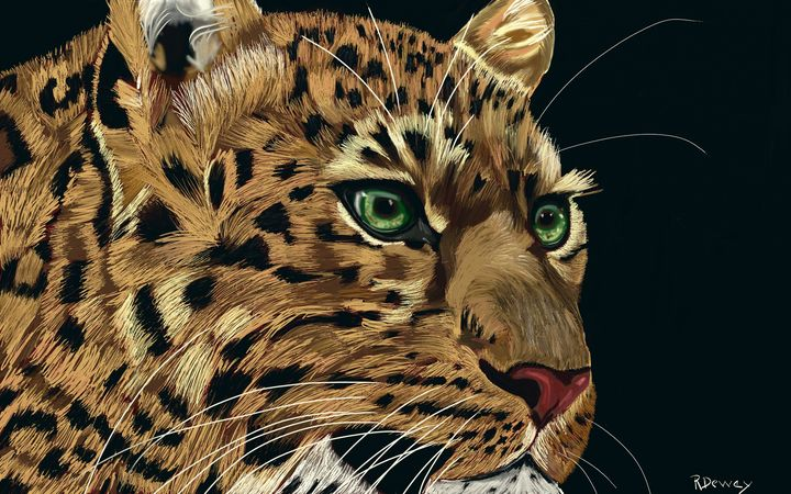 Leopard - Yellow Cottage Art - Ronni Dewey
