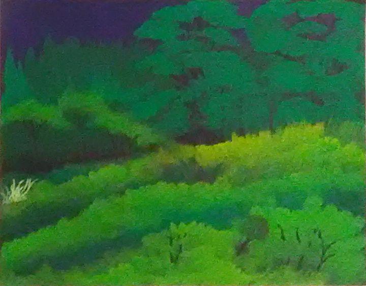 Night time in the wood's - Kimberly Garza