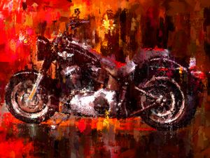 Harley Davidson Fat Boy dark