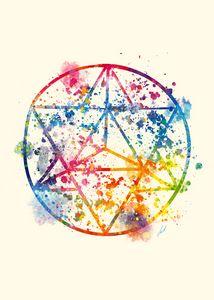 Watercolor - Sacred Geometry