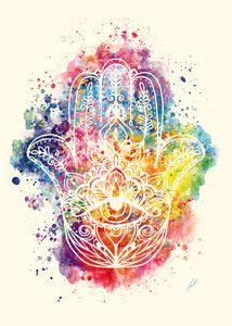 Watercolor-Fatima's hand