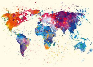 Watercolor Continents by Vart